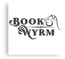 Book-Wyrm Clever Fantasy Bibliophile Canvas Print