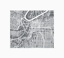 Kansas City Map - Grey Unisex T-Shirt