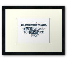 Relationship Framed Print
