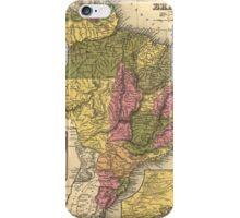 Vintage Map of Brazil (1846) iPhone Case/Skin