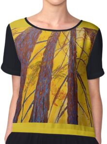 Complementary Trees Chiffon Top