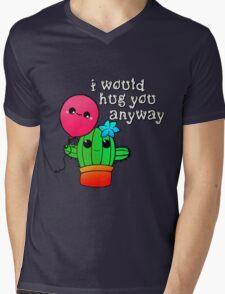 Happy Pretty Cactus Mens V-Neck T-Shirt