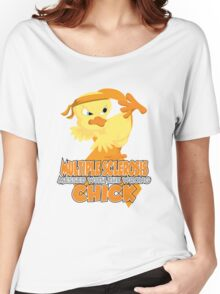 Multiple Sclerosis Messed With The Wrong Chick Women's Relaxed Fit T-Shirt