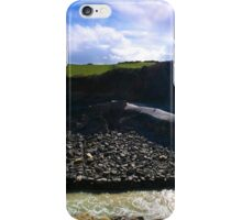 Stackpole Quay with figures iPhone Case/Skin