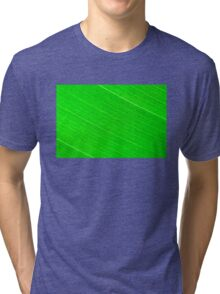 Macro shot of green leaf, nature pattern background Tri-blend T-Shirt