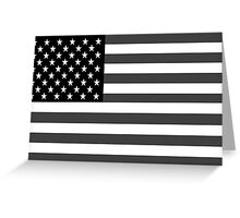 American Flag Black And White Greeting Card