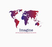 Imagine (white) Womens Fitted T-Shirt