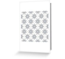 Art deco pattern with abstract flowers. Chic and elegant vintage print with flourish decor, floral motif Greeting Card
