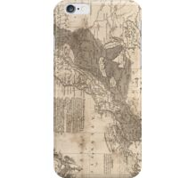 British and French Settlements of America (1755) iPhone Case/Skin