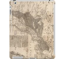 British and French Settlements of America (1755) iPad Case/Skin