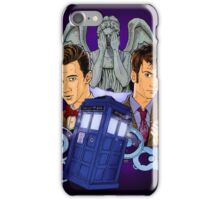 10th and 11th Doctor fan art iPhone Case/Skin