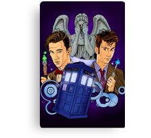 10th and 11th Doctor fan art Canvas Print