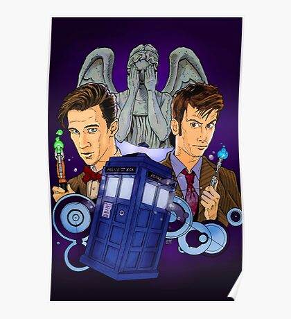 10th and 11th Doctor fan art Poster
