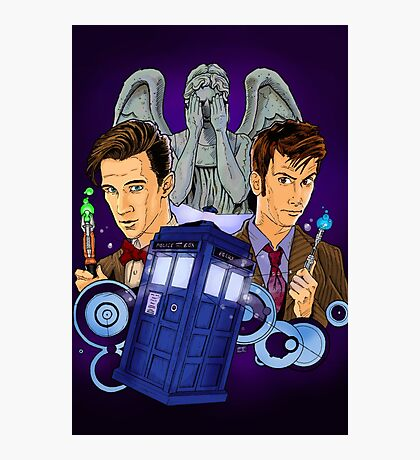 10th and 11th Doctor fan art Photographic Print