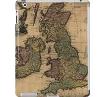 Vintage Map of The British Isles (1700s) iPad Case/Skin