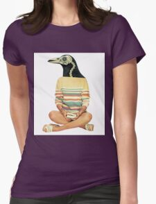 Crow head Womens Fitted T-Shirt