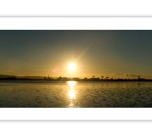 autumn sunset over dublin bay Sticker