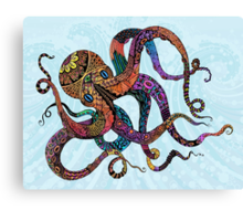 Electric Octopus Canvas Print