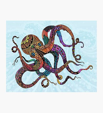Electric Octopus Photographic Print