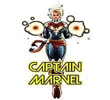 the super captain marvel american Photographic Print
