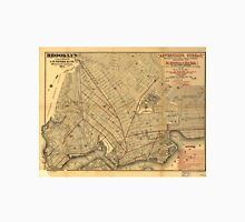 Vintage Map of Brooklyn New York (1874) Unisex T-Shirt