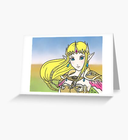 Hyrule Warriors Zelda Greeting Card