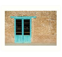 Old Door and Brick Wall Art Print