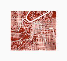Kansas City Map - Dark Red Unisex T-Shirt