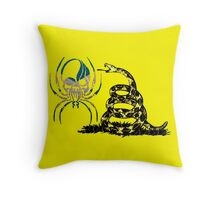 SCOTLAND SPIDER SKULL FLAG DONT TREAD ON ME Throw Pillow