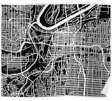 Kansas City Map - Black Poster