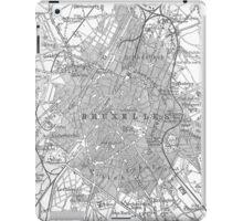 Vintage Map of Brussels Belgium (1905) iPad Case/Skin