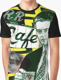 """Twin Peaks Agent Cooper """"A Damn FIne Cup of Coffee"""" Graphic T-Shirt"""
