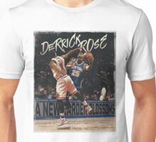 Derrick Rose Chicago to New York Garden Artwork Basketball Unisex T-Shirt