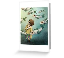 Fish Ghost Greeting Card
