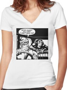 Suspicious Minds Women's Fitted V-Neck T-Shirt