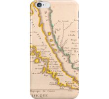 Vintage Map of California (1657) iPhone Case/Skin