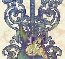 Angel Guitar by Jill Sanders