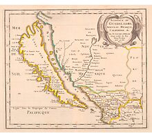 Vintage Map of California (1657) Photographic Print
