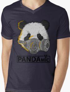PANDAmic Mens V-Neck T-Shirt
