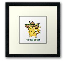 Pokemon Go Mexican Pikachu Framed Print