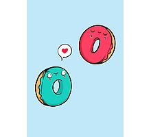 Donut in love Photographic Print