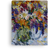 Flowers to Market  Canvas Print