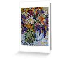Flowers to Market  Greeting Card