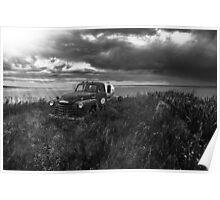 Road Closed Panorama - BW Poster