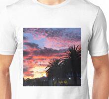 Sunset and palm trees  Unisex T-Shirt