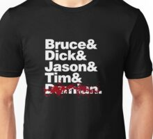 Bruce and the Boy Wonders (RIP VERSION) Unisex T-Shirt