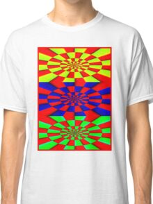 """ABSTRACT 3D"" Psychedelic Fun Print Classic T-Shirt"