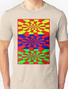 """""""ABSTRACT 3D"""" Psychedelic Fun Print Unisex T-Shirt"""