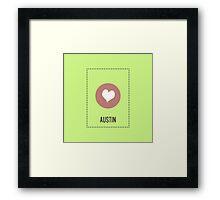 I Love Austin Framed Print