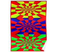 """""""ABSTRACT 3D"""" Psychedelic Fun Print Poster"""